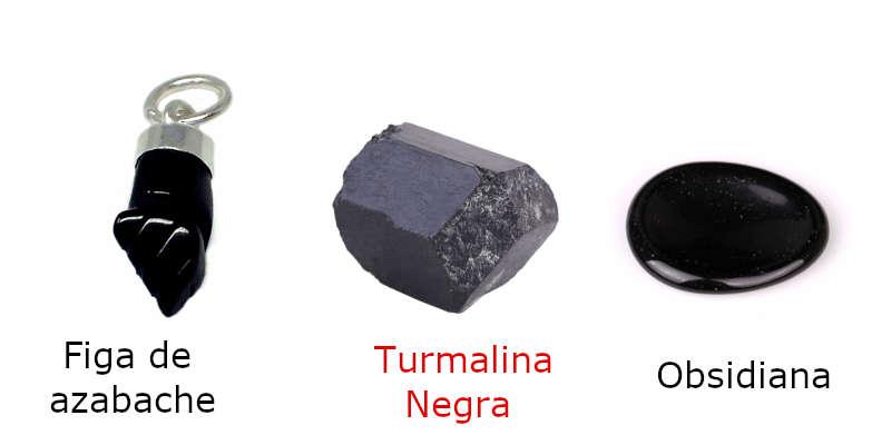 Comparación de piedras negras